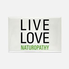 Live Love Naturopathy Rectangle Magnet