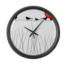 Birds On a Wire A Large Wall Clock