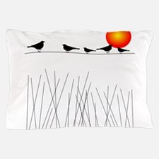 Birds On a Wire A Pillow Case