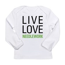 Live Love Needlework Long Sleeve Infant T-Shirt