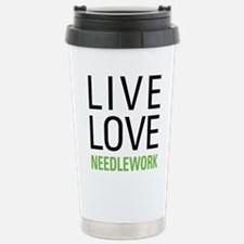 Live Love Needlework Travel Mug