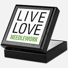 Live Love Needlework Keepsake Box