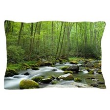 Spring Forest Stream Pillow Case