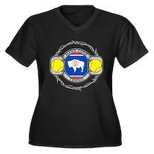 Wyoming Tenn Women's Plus Size V-Neck Dark T-Shirt