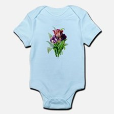 Purple and Red Tulips by Redoute Infant Bodysuit