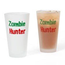 Zombie Hunter Drinking Glass