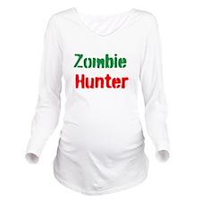 Zombie Hunter Long Sleeve Maternity T-Shirt