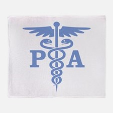 Caduceus PA (blue) Throw Blanket