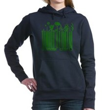 Green Code Women's Hooded Sweatshirt