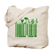 Green Code Tote Bag