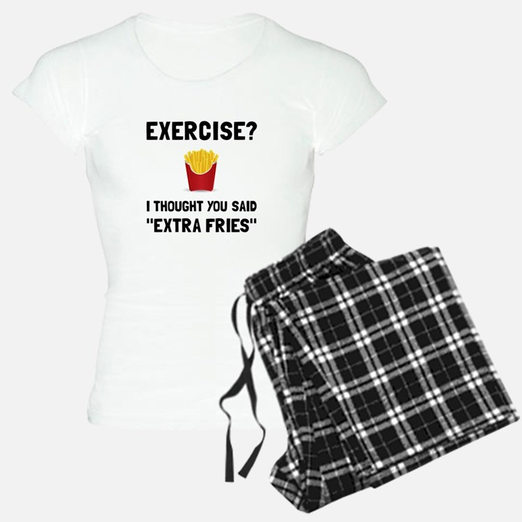 Exercise Extra Fries Pajamas