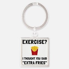 Exercise Extra Fries Keychains