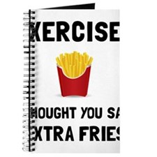 Exercise Extra Fries Journal