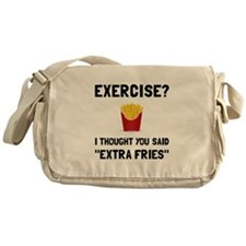 Exercise Extra Fries Messenger Bag