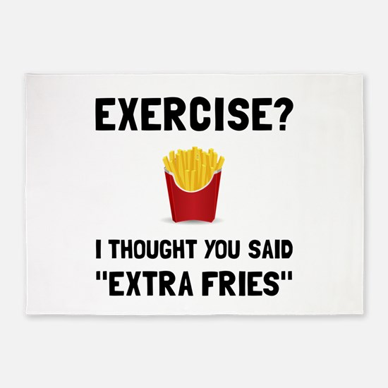 Exercise Extra Fries 5'x7'Area Rug