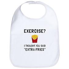 Exercise Extra Fries Bib