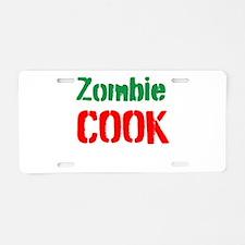Zombie Cook Aluminum License Plate