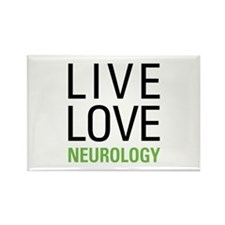 Live Love Neurology Rectangle Magnet