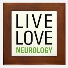 Live Love Neurology Framed Tile