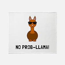 No Prob Llama Throw Blanket