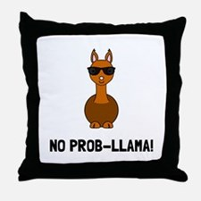 No Prob Llama Throw Pillow