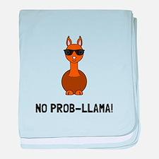 No Prob Llama baby blanket