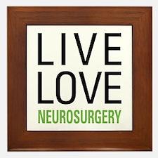Live Love Neurosurgery Framed Tile