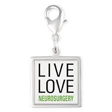 Live Love Neurosurgery Silver Square Charm
