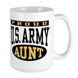Army aunt Large Mugs (15 oz)