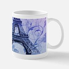 purple floral paris eiffel tower art Mugs
