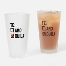 Te Quila Drinking Glass