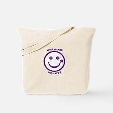 Wine Makes Me Happy Tote Bag
