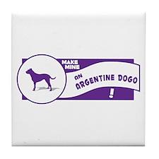 Make Mine Dogo Tile Coaster