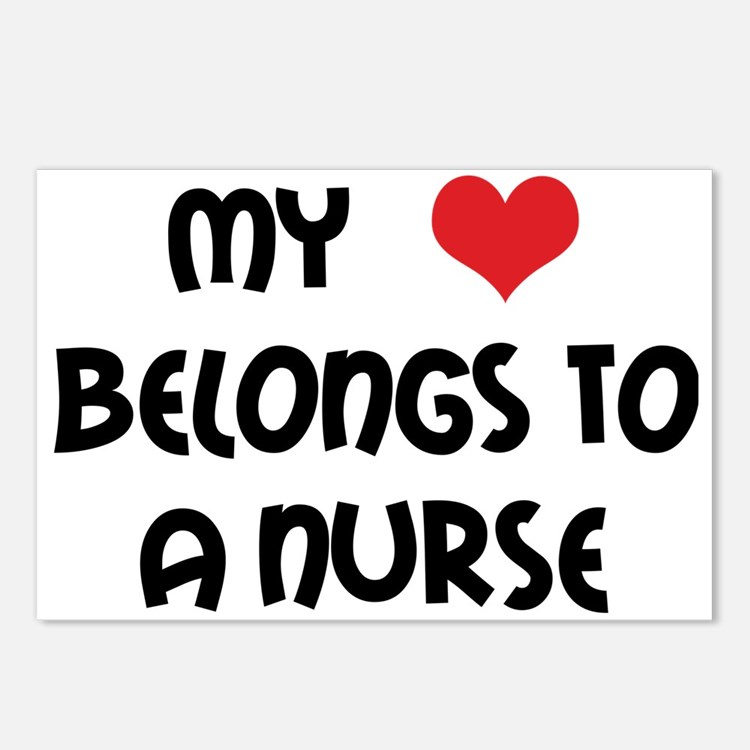 I Heart Nurses Postcards (Package of 8)