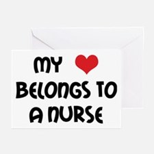 I Heart Nurses Greeting Cards (Pk of 10)