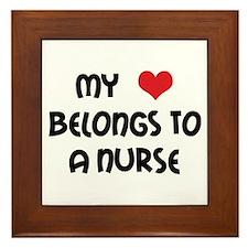 I Heart Nurses Framed Tile