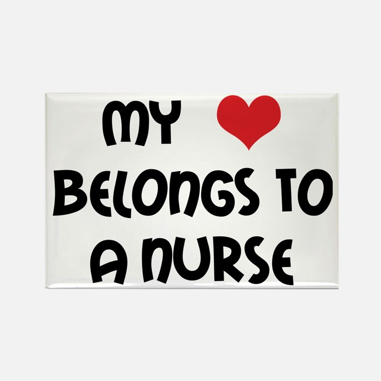 I Heart Nurses Rectangle Magnet