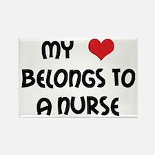 I Heart Nurses Rectangle Magnet (10 pack)