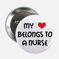 I Heart Nurses Button