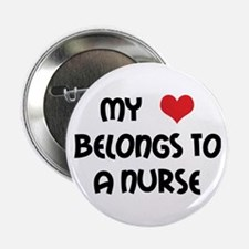 "I Heart Nurses 2.25"" Button (10 pack)"