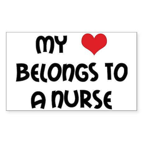 I Heart Nurses Rectangle Sticker