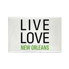 Live Love New Orleans Rectangle Magnet (10 pack)