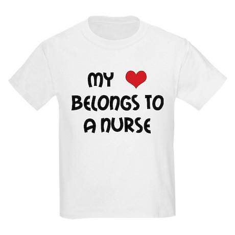 I Heart Nurses Kids Light T-Shirt