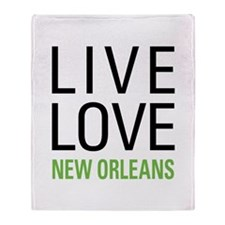 Live Love New Orleans Throw Blanket