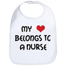 I Heart Nurses Bib