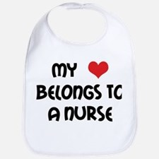 I Heart Nurses Bib