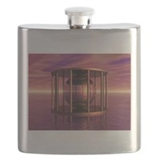 Metal Cage Floating In Water Flask