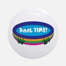 Pool Time! Ornament (Round)