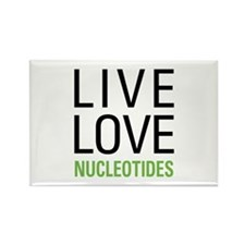Live Love Nucleotides Rectangle Magnet