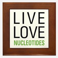 Live Love Nucleotides Framed Tile